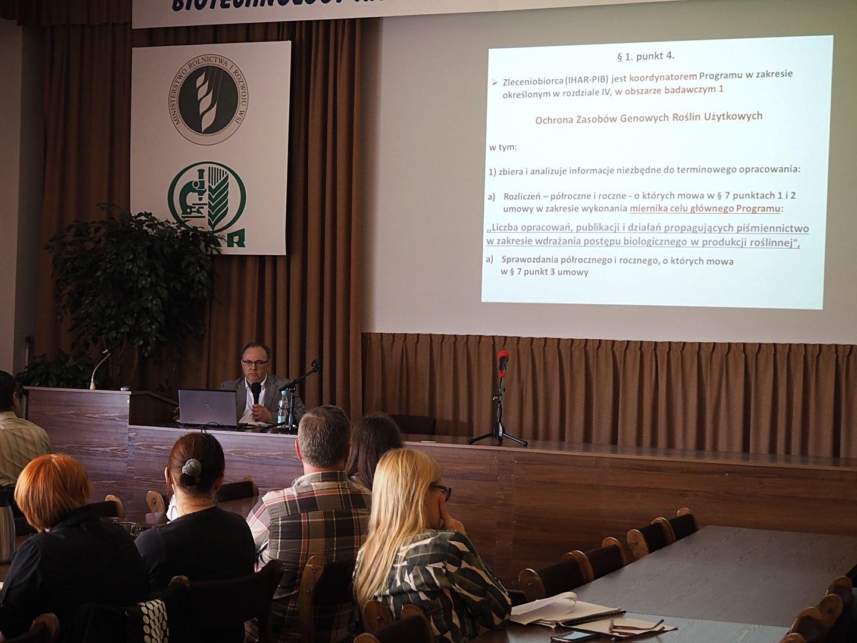 Spotkanie koordynacyjne dla wykonawców zadań Obszaru 1: Ochrona Zasobów Genowych Roślin Użytkowych