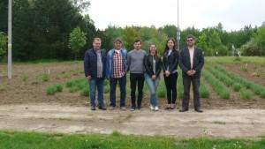 Studenci Bydgoskiej Szkoły Wyższej w Ogrodzie Botanicznym KCRZG w Bydgoszczy